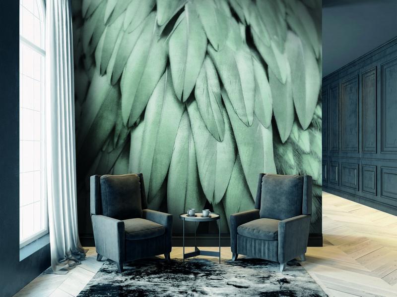 Fotowand Feathers 2 by Monika Strigel afm. 200cm x 270cm hoog