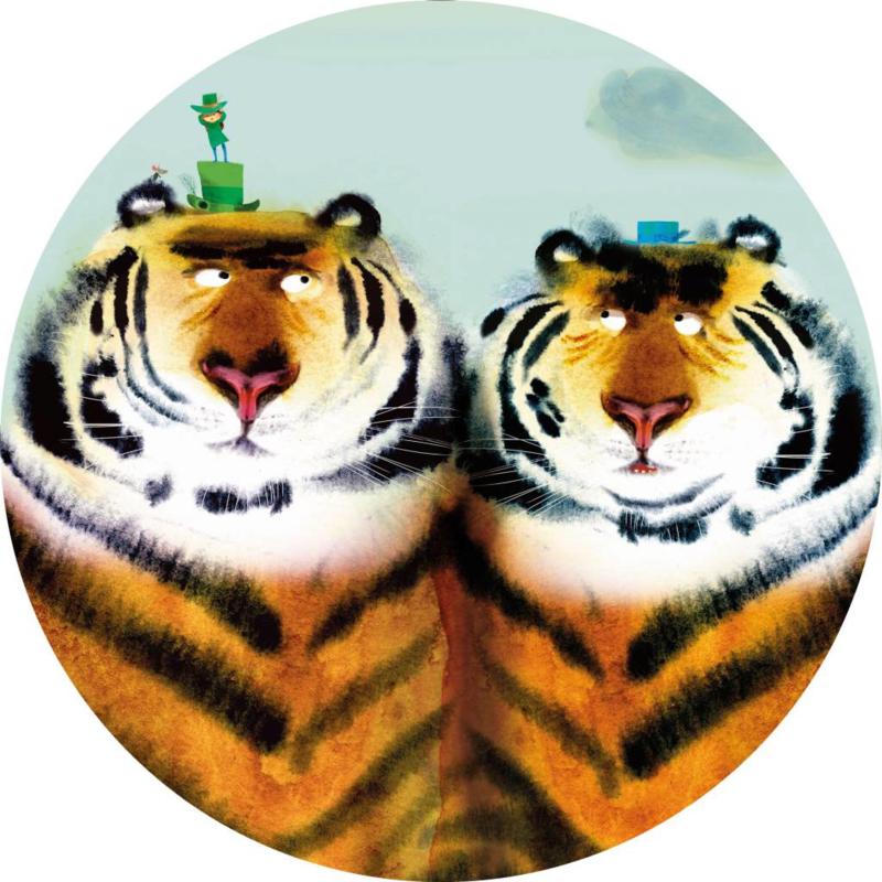 Kek Wonderwalls behangcirkel Two Tigers CK-041