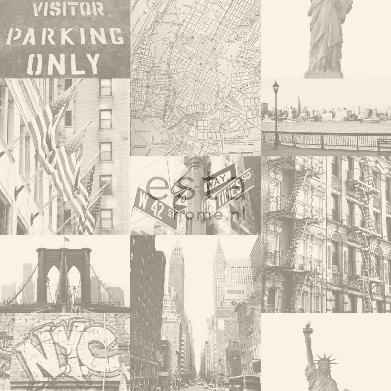 Behang Esta Denim & Co 137719 Streetview New York