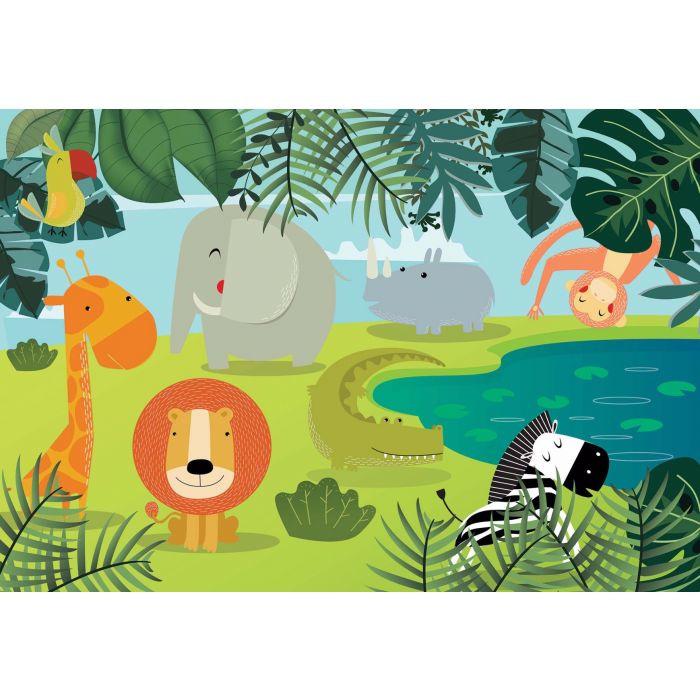 Fotobehang Jungle Friends