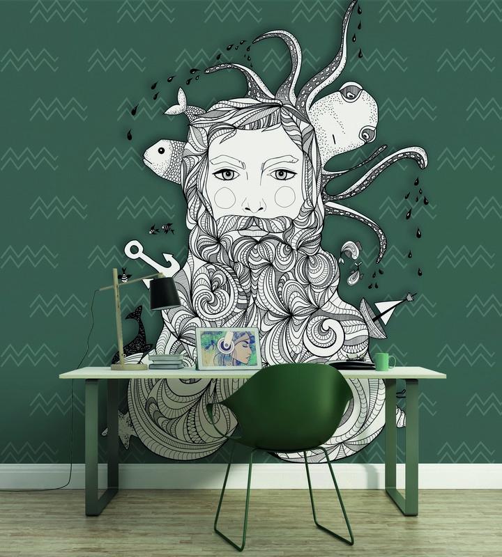 Fotowand Aquarius 1 by Sabrina Ziegenhorn afm. 400cm x 270cm hoog