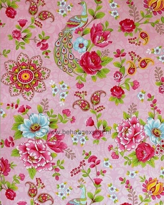 Eijffinger Pip Studio behang 313053 Flowers in the Mix Roze