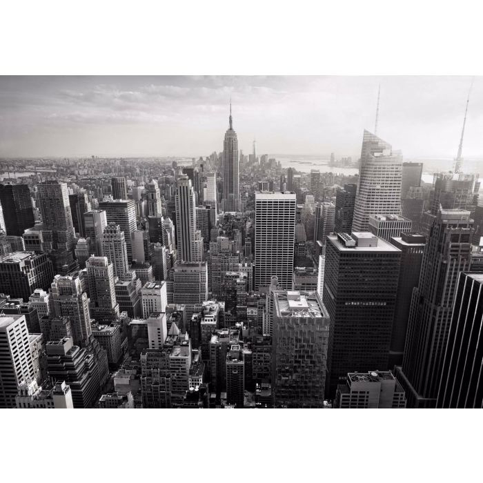 Fotobehang Empire State View in Black & White