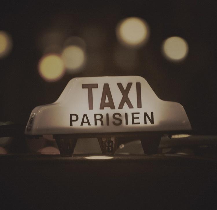 Fotobehang City Love CL23C Taxi Parisien