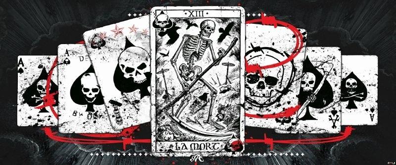 Fotobehang Speelkaarten Gotic