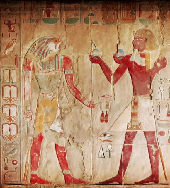 Fotobehang Hieroglief