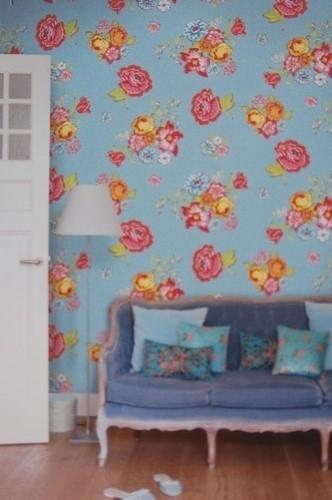 Eijffinger Pip Studio behang  386120 Bunch of Flowers Blauw
