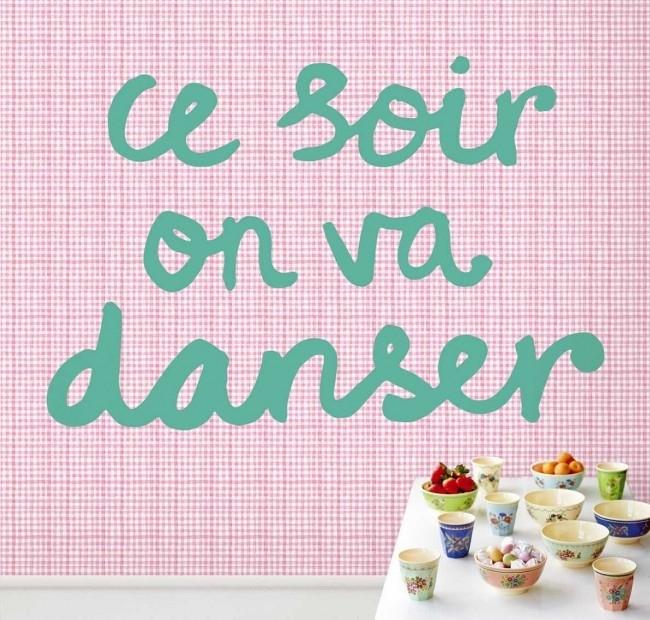 Posterbehang Eijffinger Rice 359165 Tonight we will dance - Pink