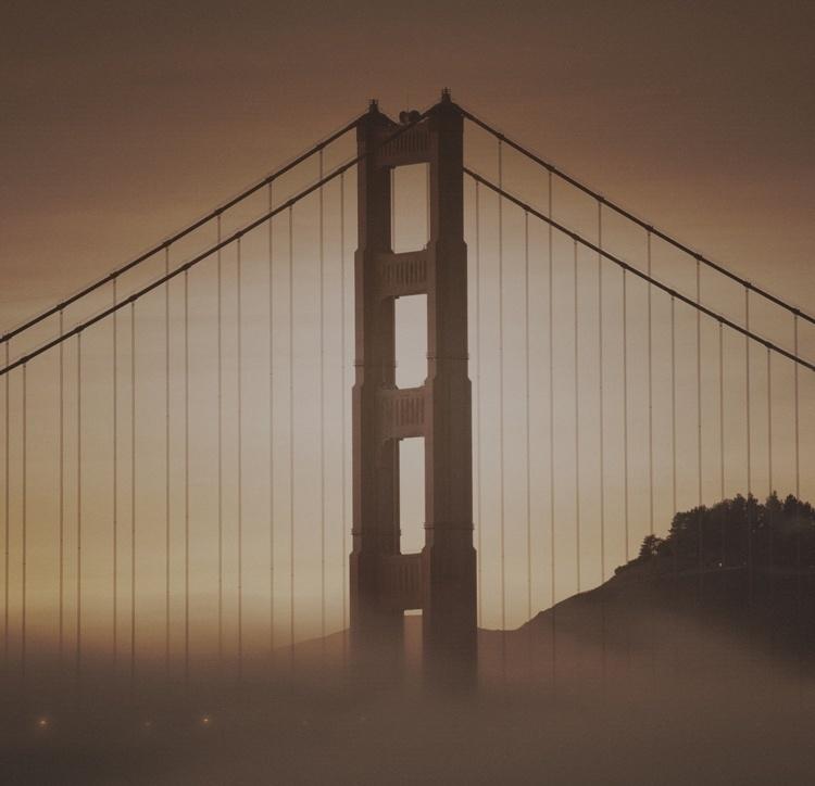 Fotobehang City Love CL40C San Francisco Golden Gate Bridge
