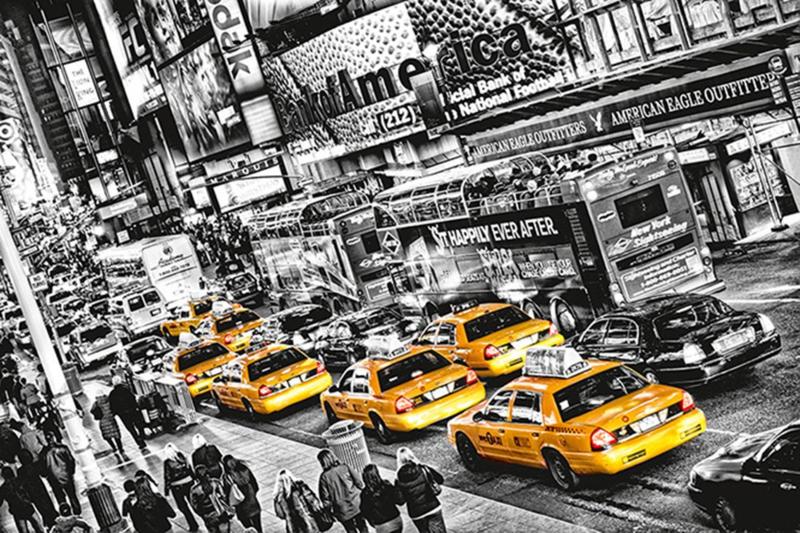 Fotobehang Idealdecor 00696 New York Cab
