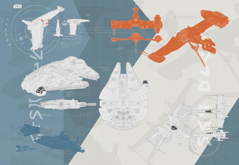 Komar fotobehang 8-4001 Star Wars Technical Plan