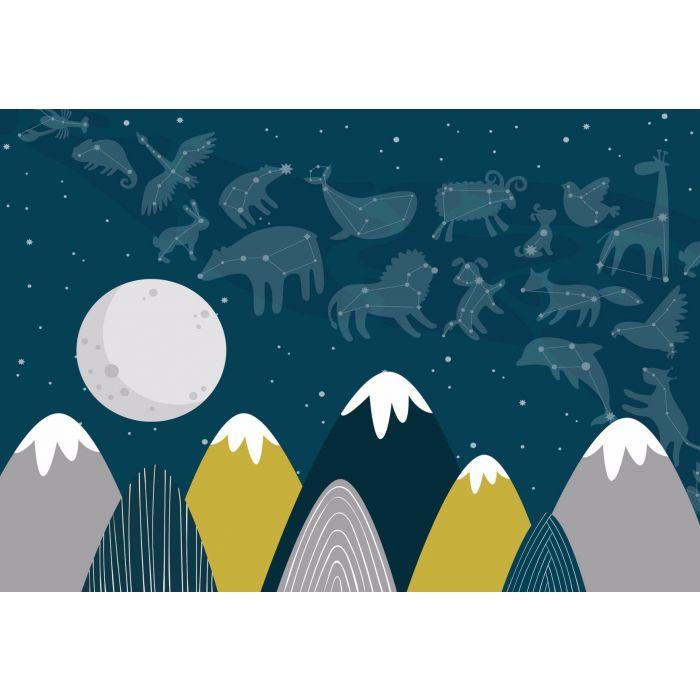 Fotobehang Big Stars Little Mountains