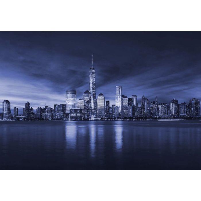 Fotobehang New York City Sunrise in Blue