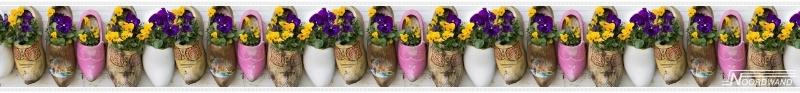 Behangrand Noordwand Farm life 3750030 Wooden shoe