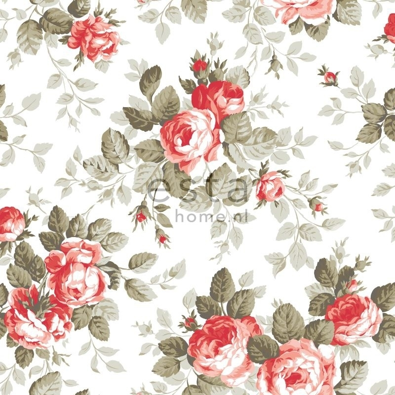 Behang Esta Home Pretty Nostalgic 138111 rozen