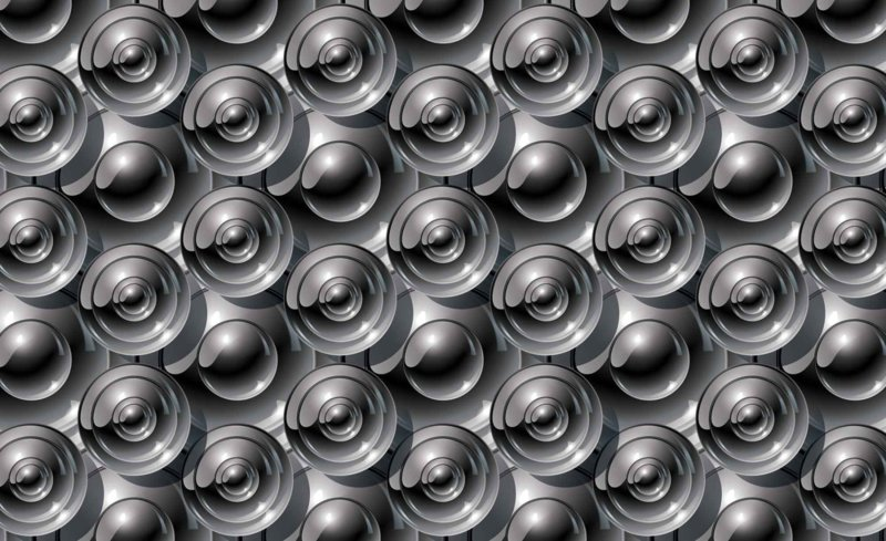 Fotobehang Abstract Cirkels Wit Grijs