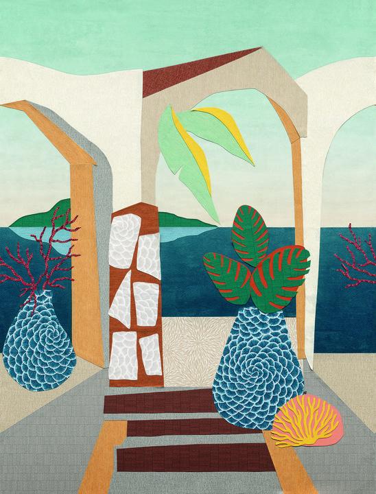 Hookedonwalls Karin Sajo KS6001 Mural The Riviera