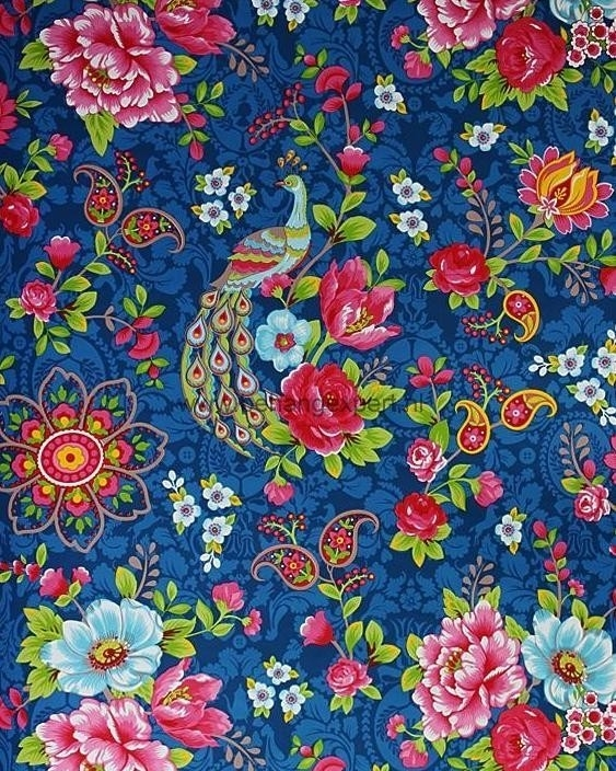 Eijffinger Pip Studio behang 313054 Flowers in the Mix Blauw