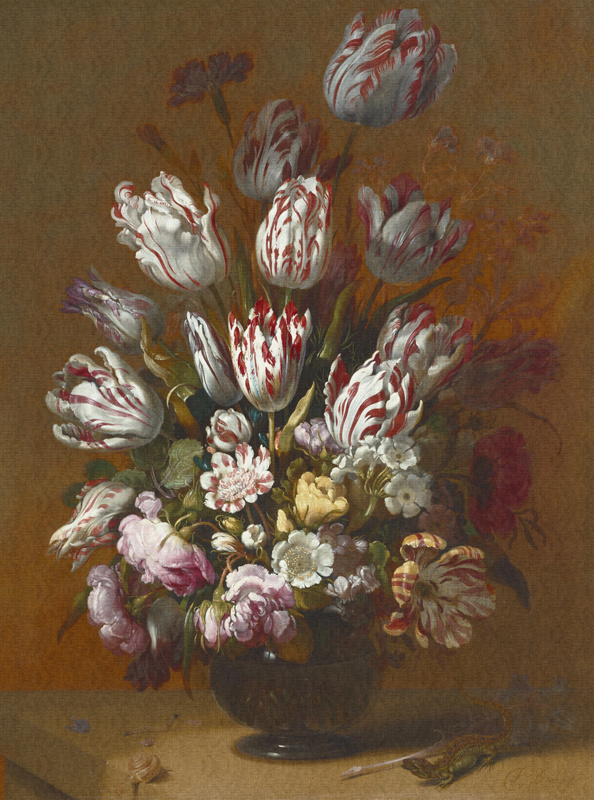 Dutch Painted Memories 8026 Still life with flowers Hans Bollongier