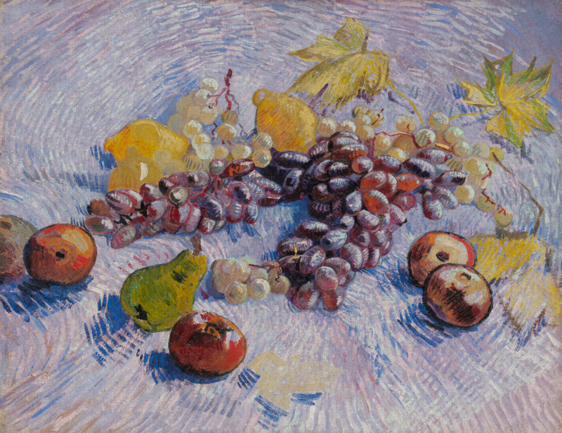 Dutch Painted Memories 8075 Grapes, lemond, pears and apples