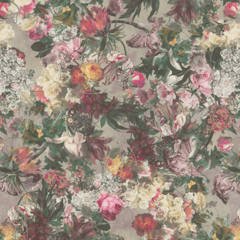 Rasch Passepartout 605631 geschilderde bloemen