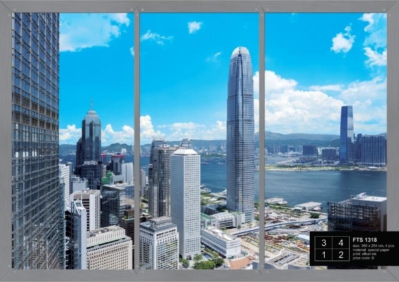 Fotobehang AG Design FTS1318 Window in City