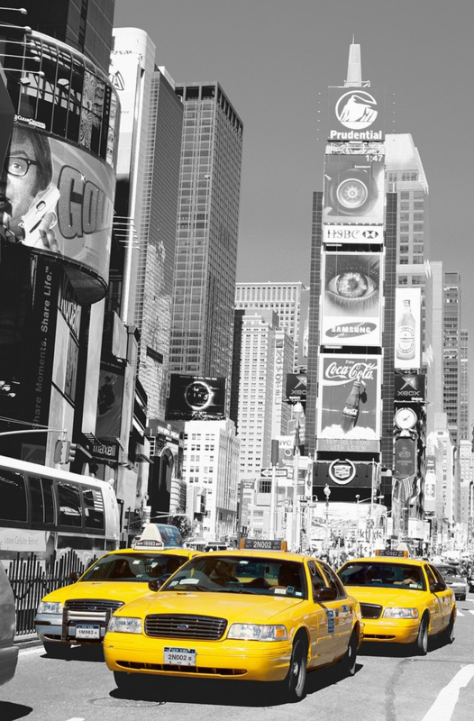 Fotobehang Idealdecor 00650 New York Cab