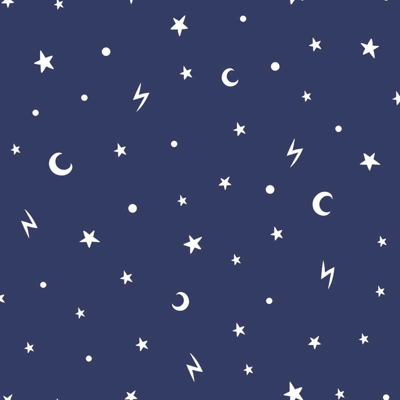 Over the Rainbow 90982 Stars and Moons Navy glow in the dark
