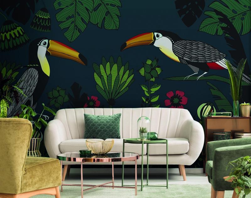 Fotowand Tukan 2 by Sabrina Ziegenhorn afm. 400cm x 270cm hoog