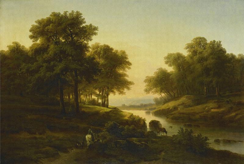 Dutch Painted Memories 8031 Landscape Alexander Calame
