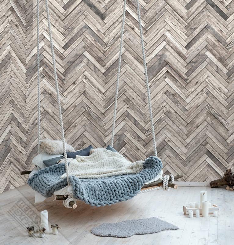 Colorchoc New Materials fotobehang 7055 planken visgraat