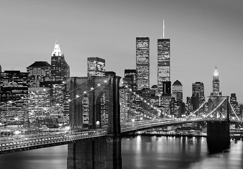Fotobehang Idealdecor 00138 Manhattan Skyline at Night