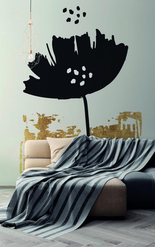 Fotowand Black poppy by Kubistika afm. 200cm x 280cm hoog