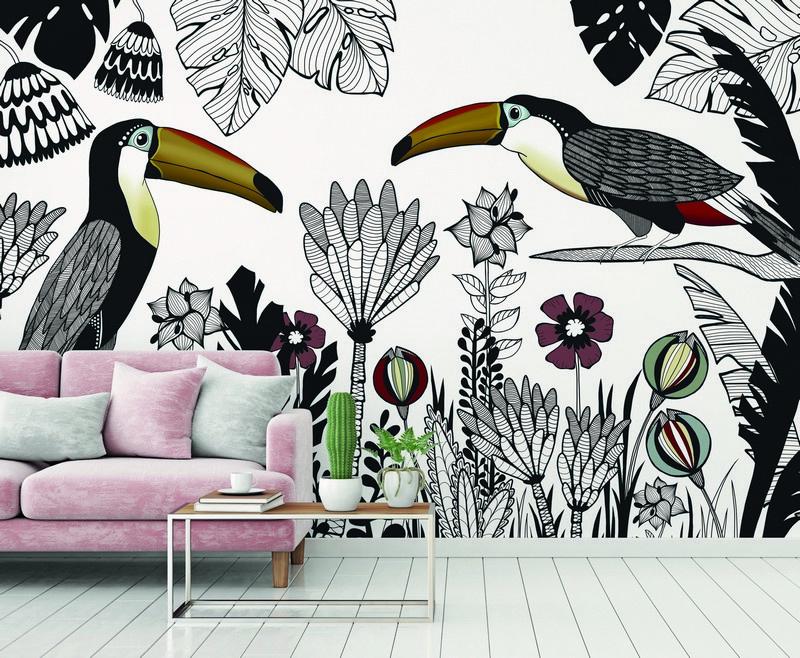 Fotowand Tukan 1 by Sabrina Ziegenhorn afm. 400cm x 270cm hoog