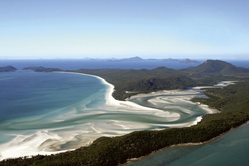 Fotobehang Luchtfoto van het strand