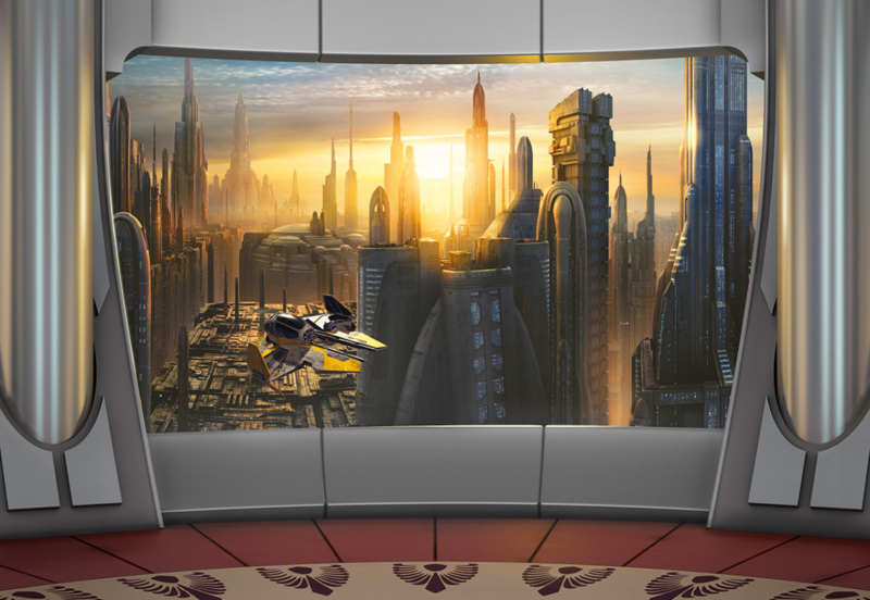 Komar fotobehang 8-483 Star Wars Coruscant View
