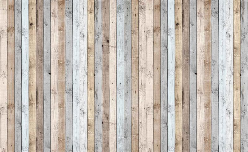 Fotobehang Planken Gekleurd