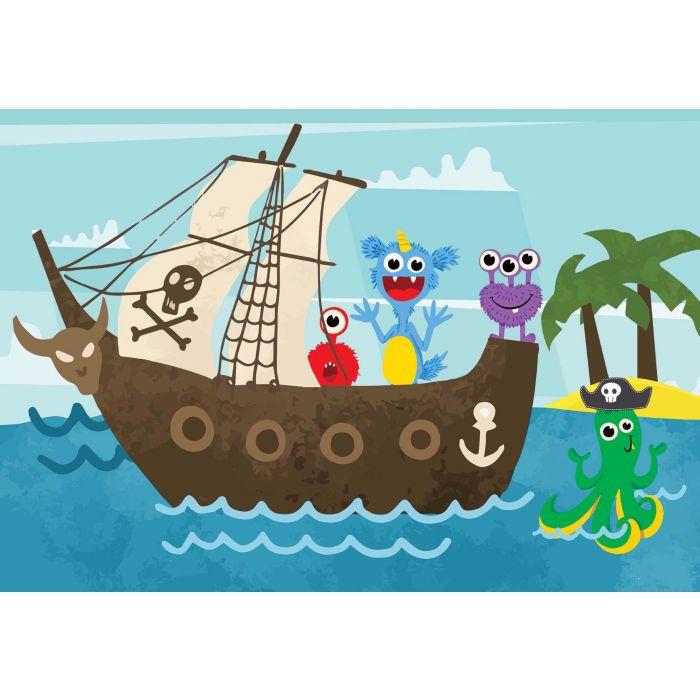 Fotobehang Monster Mayhem Pirates