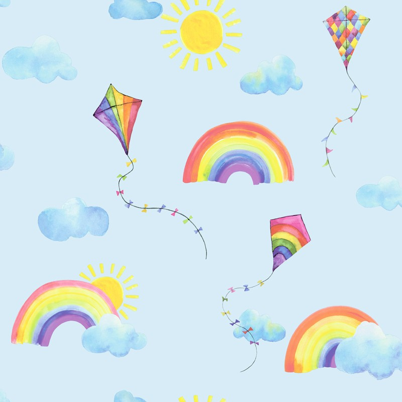 Over the Rainbow 91022 Rainbows and Flying Kites Blue