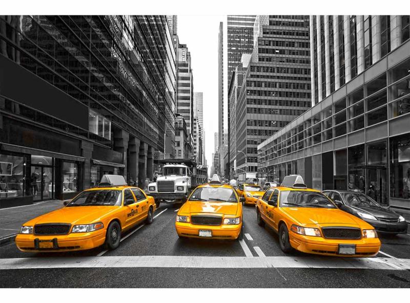 Fotobehang Gele taxi