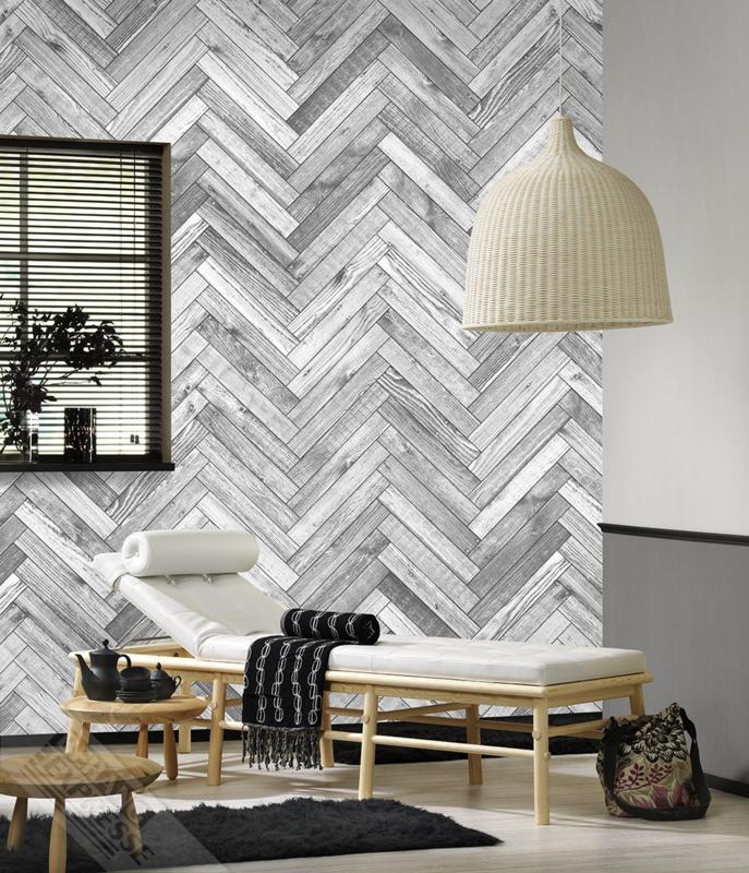 Colorchoc New Materials fotobehang 7069 planken visgraat