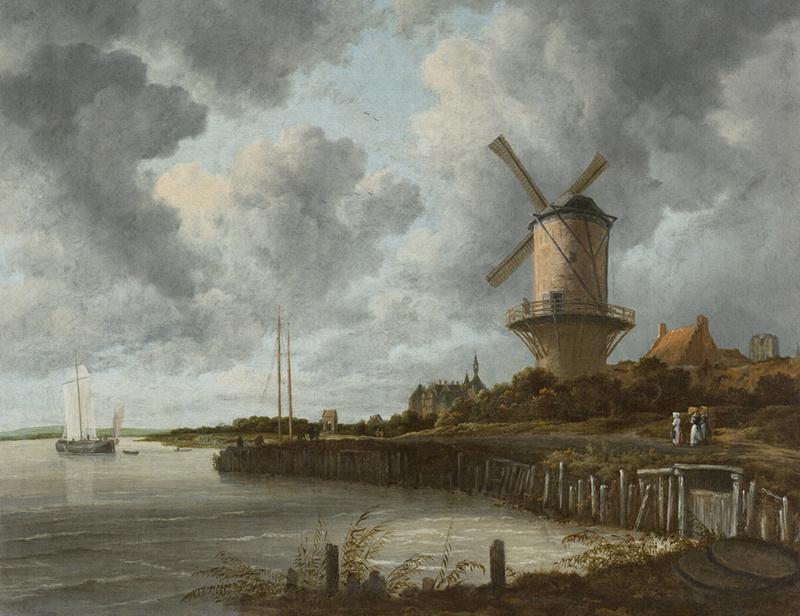 Dutch Painted Memories 8023 The windmill Jacob van Ruisdael