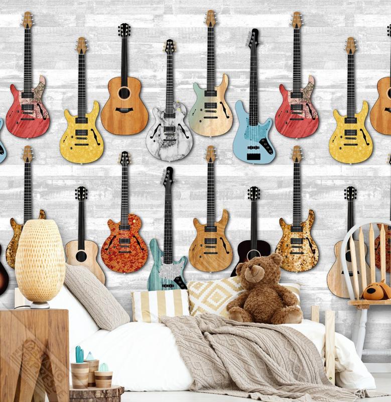 Behangexpresse Thomas - Fotobehang INK 7089 gitaren