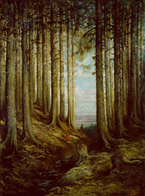 Dutch Painted Memories 8072 Alpine scene