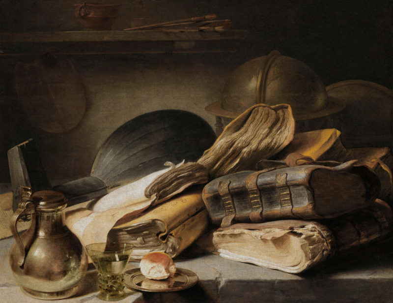 Dutch Painted Memories 8057 Still life with books