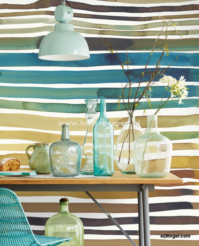 Eijffinger Stripes+ 377215 Wallpower Aquastripe Ochre