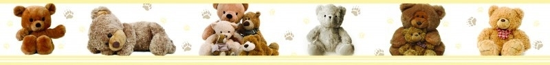 Dutch XXL behangrand Teddybears 80013
