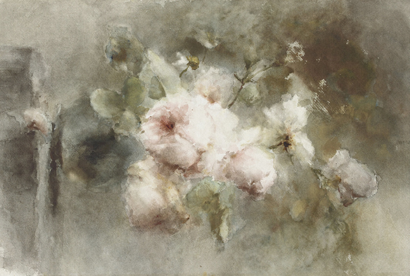 Dutch Painted Memories 8030 Vase with roses Margaretha Roosenboom