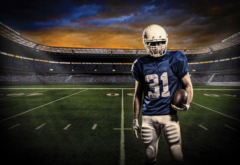 Fotobehang American Football Player