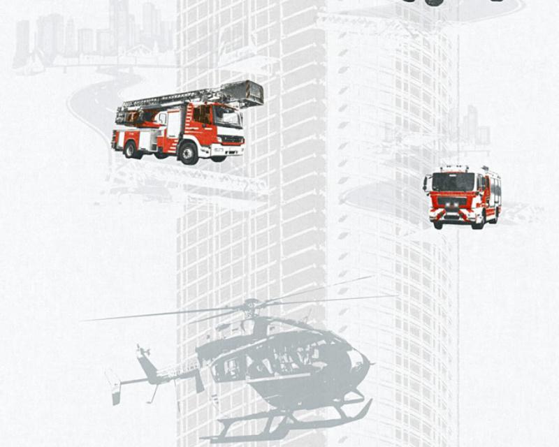 As Creation Little Stars 35813-2 Brandweerauto en Helicopter